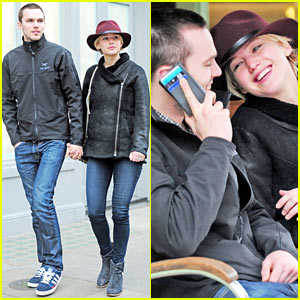 Jennifer Lawrence & Nicholas Hoult Hold Hands & Look Lovey-Dovey!
