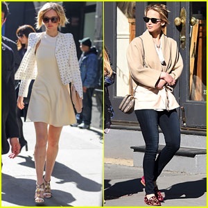Jennifer Lawrence Spends Easter in NYC Before 'GMA' Appearance