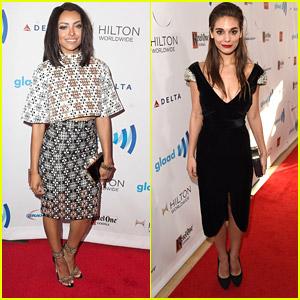 Kat Graham & Reign's Caitlin Stasey: GLAAD Media Awards 2014