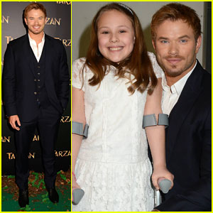 Kellan Lutz Poses With Cute Fan at 'Tarzan' Dublin Premiere