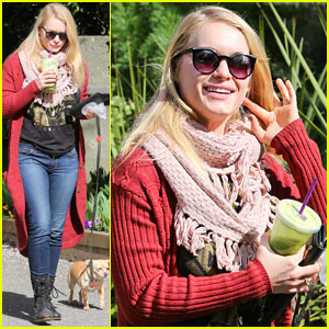 Leven Rambin Walks Her Pup Before Late-Night 'Tomorrow People' Shoot