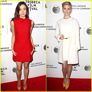 Maggie Grace & Aubrey Plaza Premiere 'About Alex' at Tribeca 2014