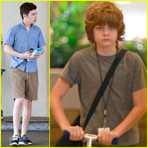 Nick Robinson & Ty Simpkins Head to 'Jurassic World' Set in Hawaii!