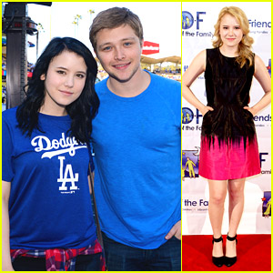 Taylor Spreitler Shows Off New Black Hair for 'Amityville' at Weekend Dodgers Game with Sterling Knight