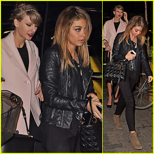 Taylor Swift & Sarah Hyland Hit Up Off-Broadway Play Together