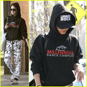 Vanessa Hudgens Goes Wild Running Errands in Zebra Print Pants