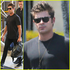 Zac Efron Heads To London For 'Neighbors' Pr