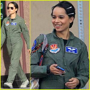 Zoe Kravitz Makes a Flight Suit Look Really Good!