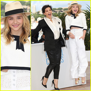 Chloe Moretz is Lovely in White for Cannes 'Clouds of Sils Maria' Photo Call!