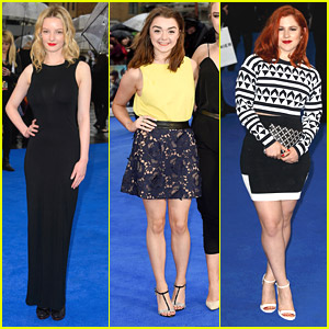 Dakota Blue Richards & Maisie Williams Attend 'X-Men: Days of Future Past' Premiere