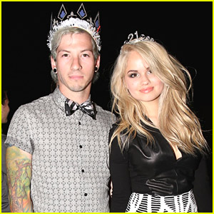 Debby Ryan Wears Crown For 21st Birthday Party