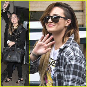 Demi Lovato Dresses Down For 'Paul O'Grady' Appearance in London
