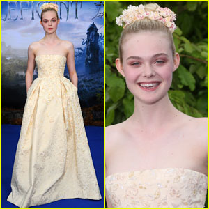 Elle Fanning Steps Out with Brangelina at 'Maleficent' Private Reception!