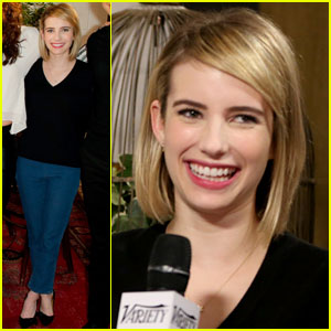 Emma Roberts Joins Other Television Talents at the Variety Studio!
