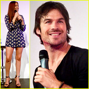 Ian Somerhalder Speaks on Stage at Bloody Night Con