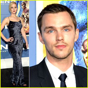 Jennifer Lawrence Shimmers at 'X-Men' Premiere with Nicholas Hoult!