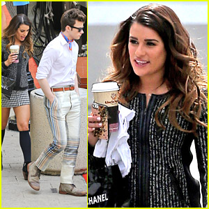 Lea Michele & Chris Colfer Start To Wrap Up 'Glee' Season 5