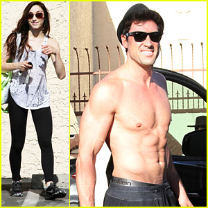 Maksim Chmerkovskiy Goes Shirtless After 'DWTS' Final Practice with Meryl Davis