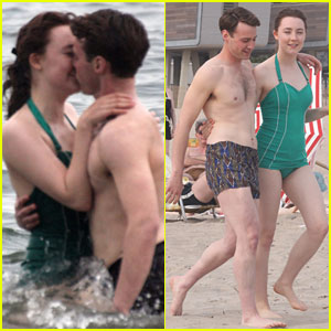 Saoirse Ronan Smooches Emory Cohen During 'Brooklyn' Coney Island Scene!