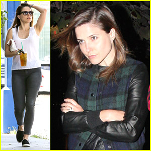 Sophia Bush Enjoys Ray LaMontagne Show in Old Church
