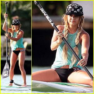 Vanessa Hudgens Show Off Major Paddleboarding Skills in Her Bikini!