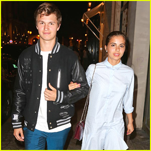 Ansel Elgort & Girlfriend Violetta Komyshan Enjoy Dinner in Paris