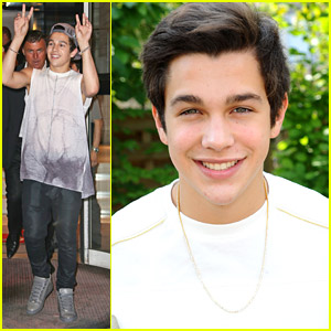 Austin Mahone Visits Berlin Wall After NRJ Radio Interview