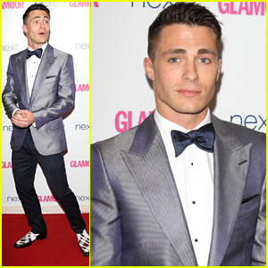 Colton Haynes Shines in a Suit at Glamour Women of the Year Awards 2014