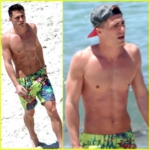 Colton Haynes Goes Shirtless at the Beach & We Have the Pics!