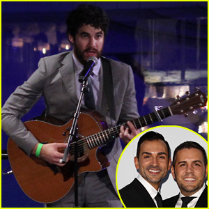 Darren Criss Performs at Prop 8 Couple's Wedding Anniversary!