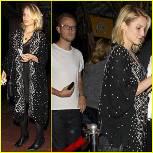 Dianna Agron Hits the Jack White Concert with Mystery Man!