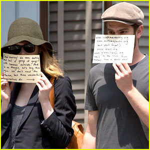 Emma Stone & Andrew Garfield Use the Paparazzi to Promote Some Good Causes!
