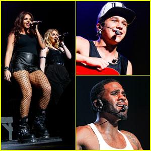 Little Mix & Austin Mahone Perform for WZPL Birthday Bash 2014