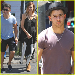 Nick & Joe Jonas Meet Up For Lunch at Hugo's