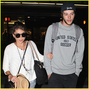 Sarah Hyland & Matt Prokop Arrive Back Home After Hawaiian Getaway