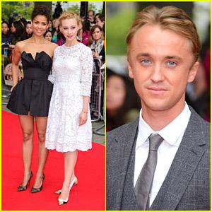 Tom Felton & Sarah Gadon Premiere 'Belle' in Great Britain