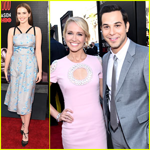 Anna Camp & Skylar Astin Win The Cutest Couple Award at 'True Blood' Final Season Premiere