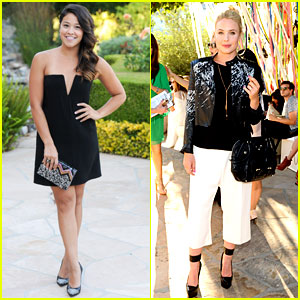 Gina Rodriguez & Leah Pipes Rep The CW at BCBG Max Azria Event!
