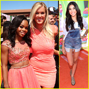 Bethany Hamilton & Gabby Douglas Pick Up Blimps at Kids Choice Sports Awards 2014!
