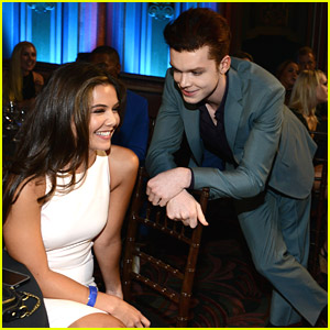 So Cute! 'Prom' Stars Cameron Monaghan & Danielle Campbell Reunite at Young Hollywood Awards 2014