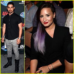 Demi Lovato Attends the UFC Fight with Boyfriend Wilmer Valderrama!