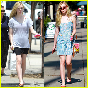 Elle Fanning Switches From Casual to Chic for Monday Outings