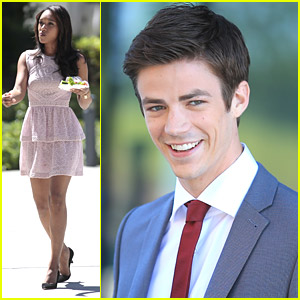 Grant Gustin & Candice Patton Start Filming 'The Flash' in Vancouver