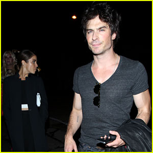 Ian Somerhalder Gets Dinner