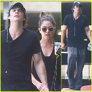 Ian Somerhalder & Nikki Reed Hit L.A. Gym Together