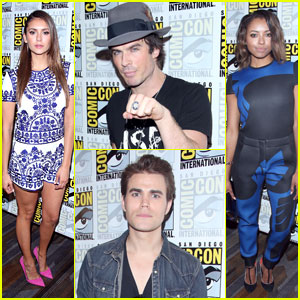 Nina Dobrev & Ian Somerhalder Hit Up 'The Vampire Diaries' Panel at Comic-Con!