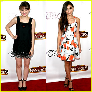 Joey King & Rowan Blanchard Check Out 'Once' on Opening Night!