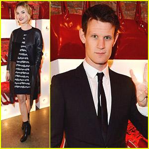 Lily James & Matt Smith Hit Up Vivienne Westwood's Virgin Atlantic Uniform Launch Party