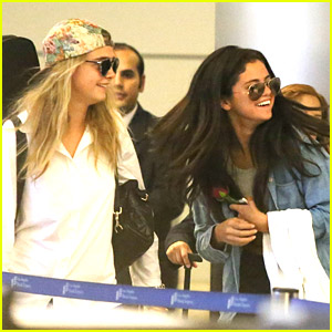 Selena Gomez & Cara Delevingne Return to Los Angeles After Saint Tropez Vacation