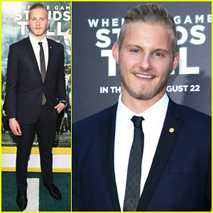 Alexander Ludwig Cleans Up Nicely for 'When The Game Stands Tall' Hollywood Premiere!